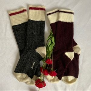 ROOTS Cabin Cotton Socks / Bundle of 2 Pairs